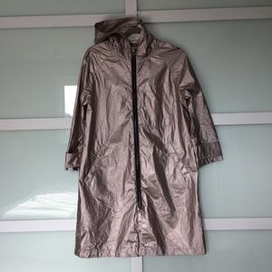 Rebecca Minkoff RARE Pink Metallic Raincoat